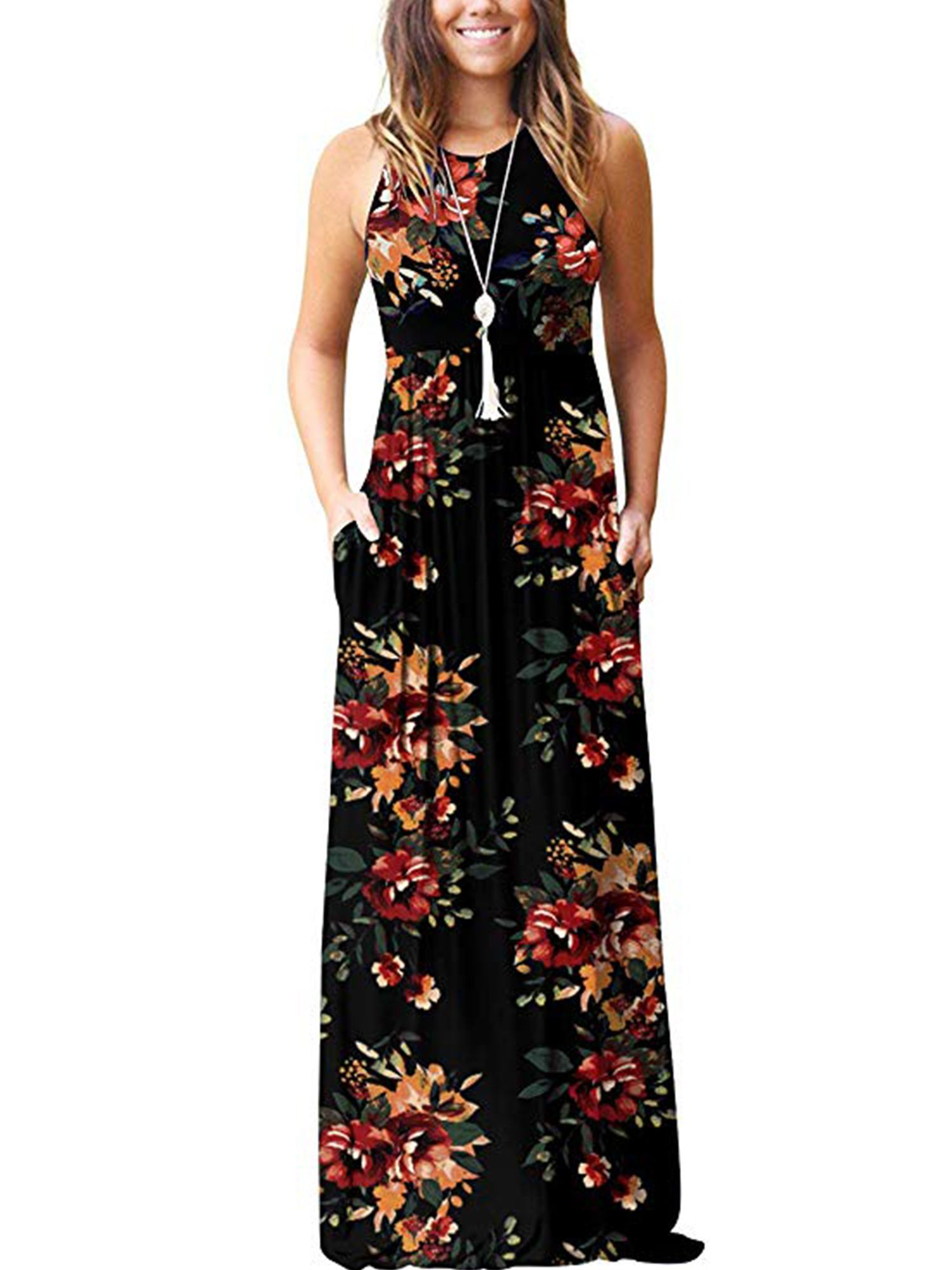 Women Holiday Chiffon Floral Casual Beach Party Sleeveless Dress Vest Welcome