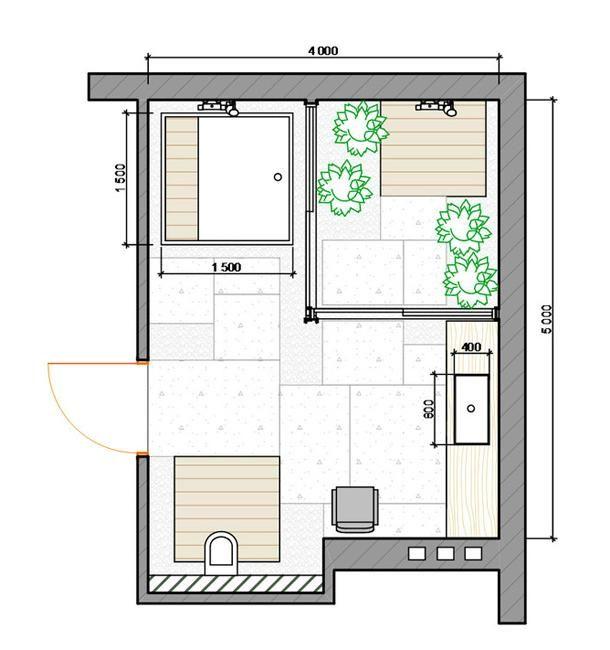 Personalized Modern Bathroom Design Created By Ergonomic Space Saving Layout Bathroom Design Layout Bathroom Floor Plans Bathroom Layout
