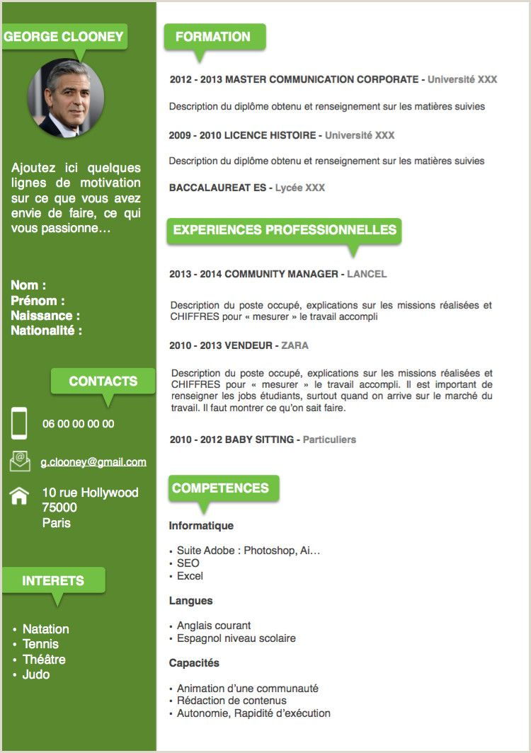 Exemple De Cv En Ligne Gratuit Mod Le Cv In 2021 Resume Words Cv Words Resume Template Free