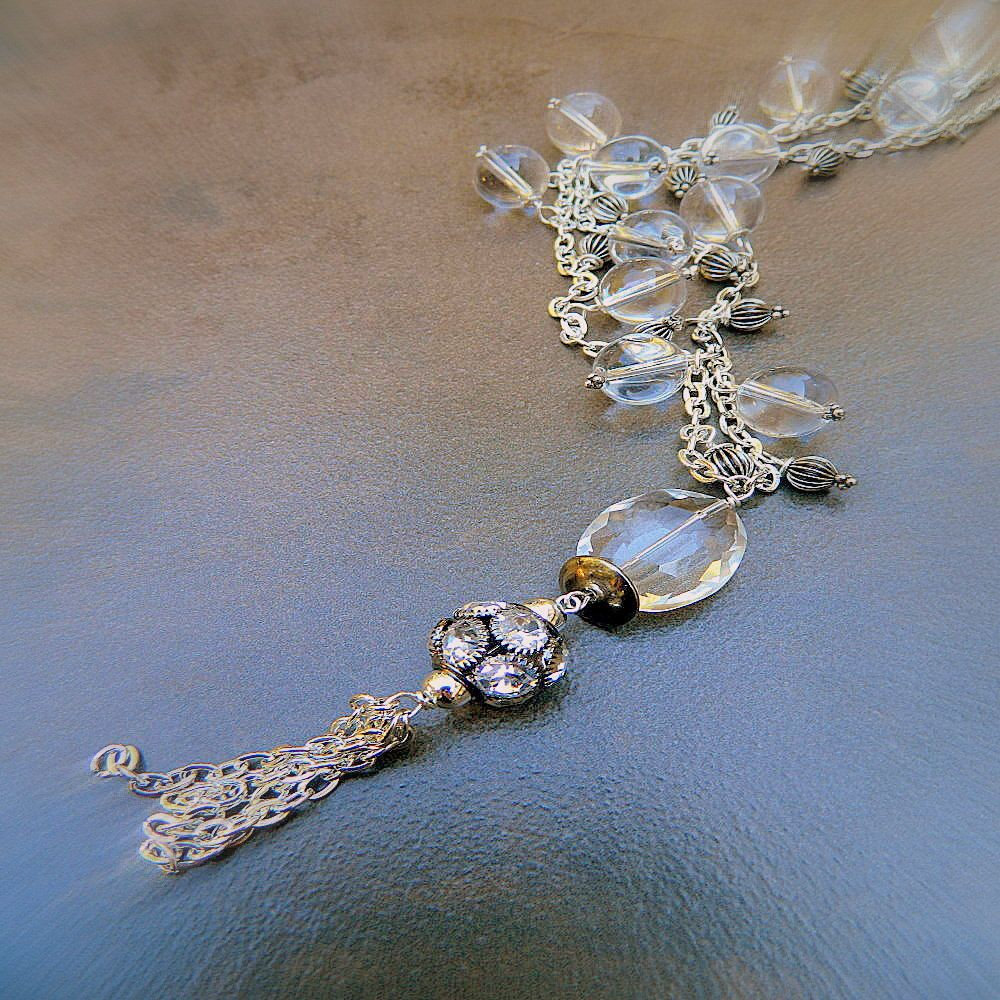 Shooting Star, Western Cowgirl Shabby Chic Crystal & Rhinestone Tibetan Silver Necklace. $32.00, via Etsy.