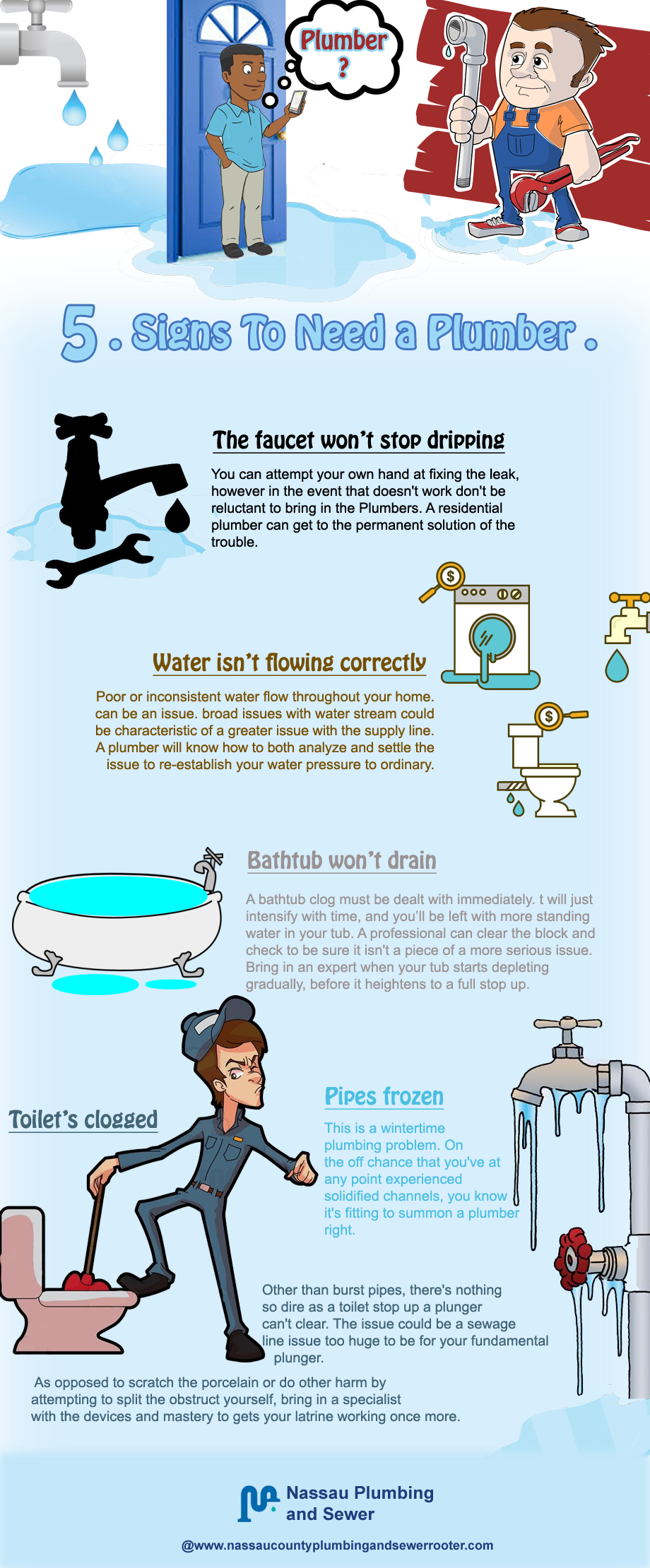 Five Signs To Need a Plumber The faucet won\'t stop dripping You can ...