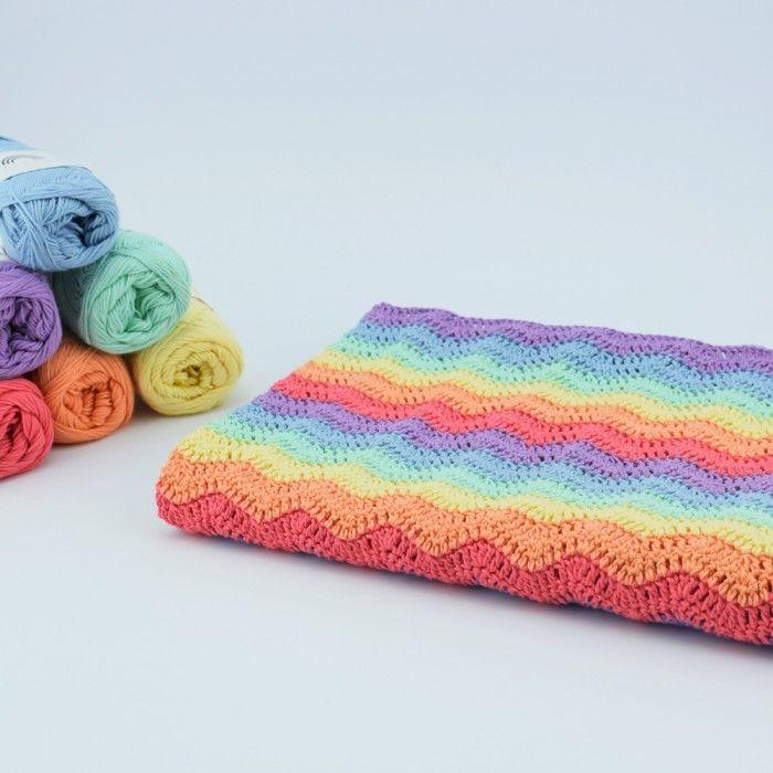 Rainbow Babyfilt Mönster 17b0703889898