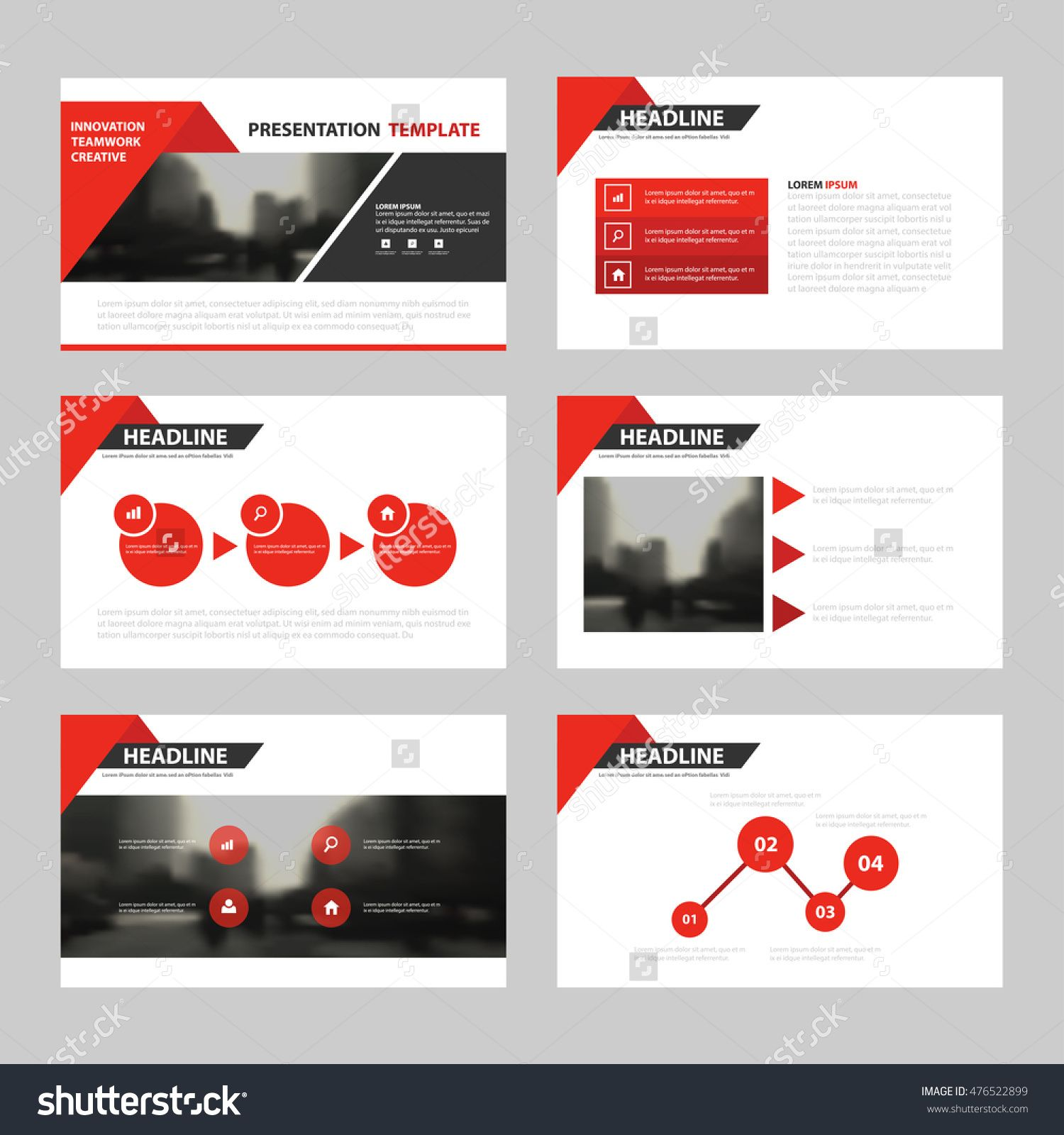 red triangle presentation templates, infographic elements template, Powerpoint templates