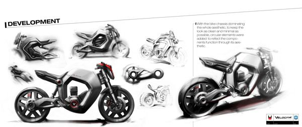 Hero Honda Bike Drawing