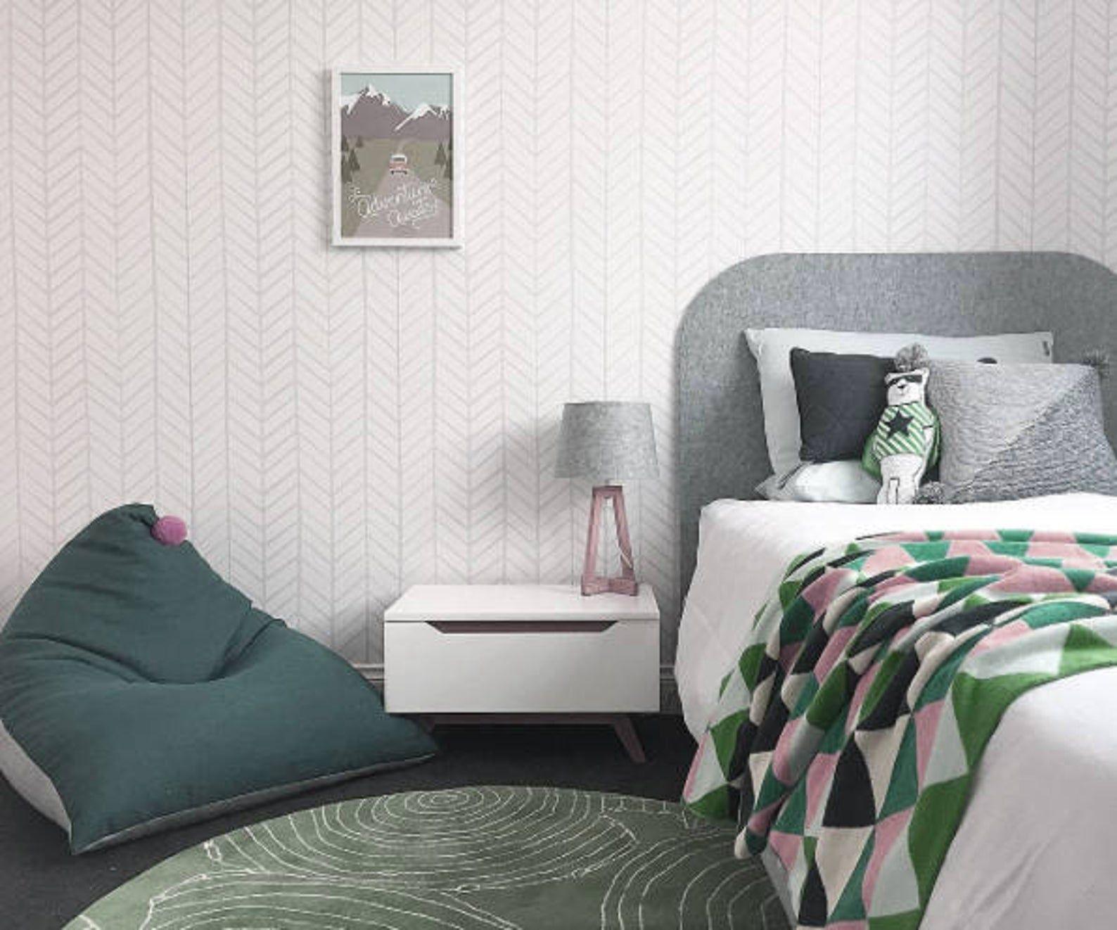 Removable Wallpaper Peel and stick Herringbone wallpaper