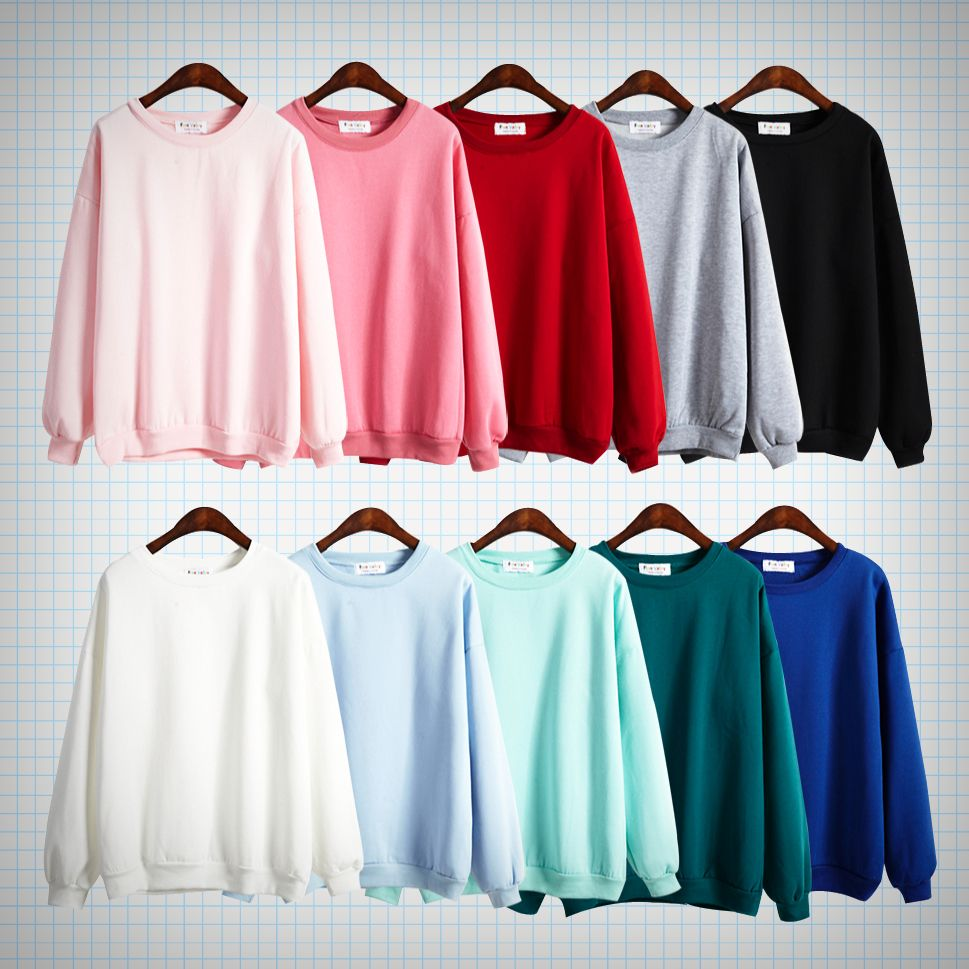 A Must Have Basic Vintage Style Pop Colour Jumpers Available In Ten Different Colours Sizing Info Shoulders Sleeves Fashion Aesthetic Fashion Clothes