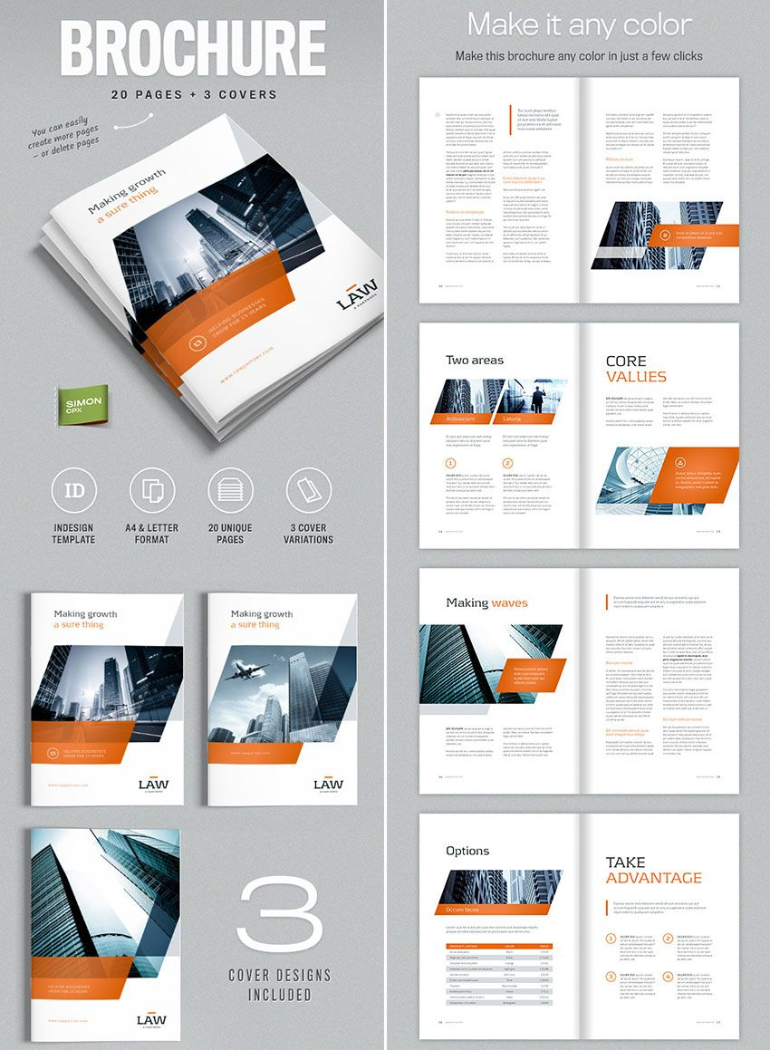 Brochure Template for InDesign - A4 and Letter | Amann | Pinterest ...
