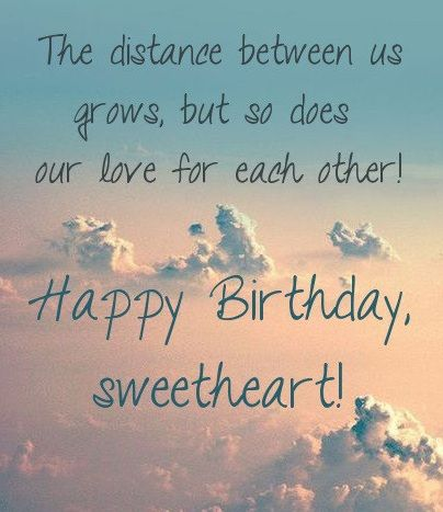 Best Birthday Wishes For A Long Distance Romantic Happy Birthday