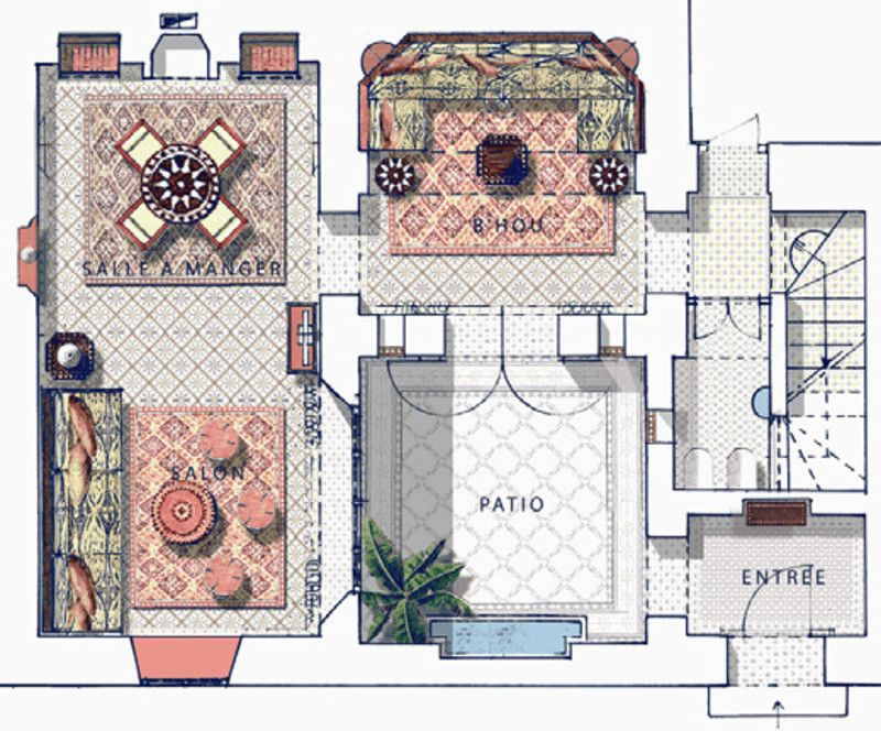 Image Result For Riad Floor Plan Home Interior Garden