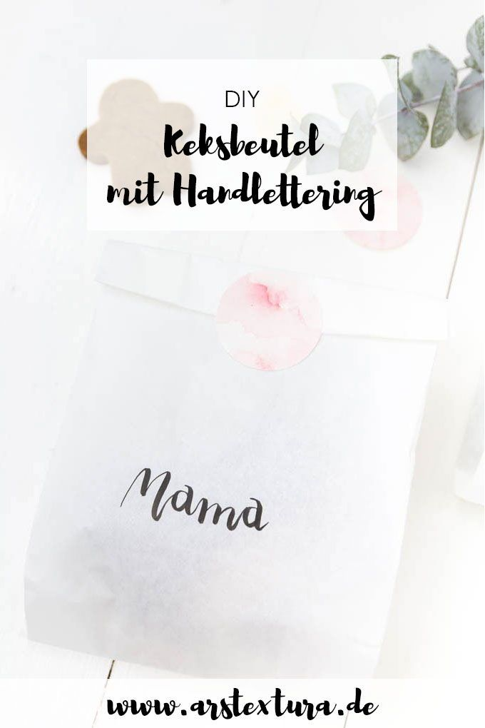 pl tzchen verschenken papiert ten mit handlettering. Black Bedroom Furniture Sets. Home Design Ideas