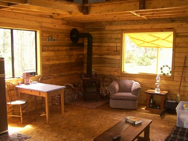 14 X 24 Owner Built Cabin Small Cabin Interiors Cabin Interior Design Tiny Cabins Interiors