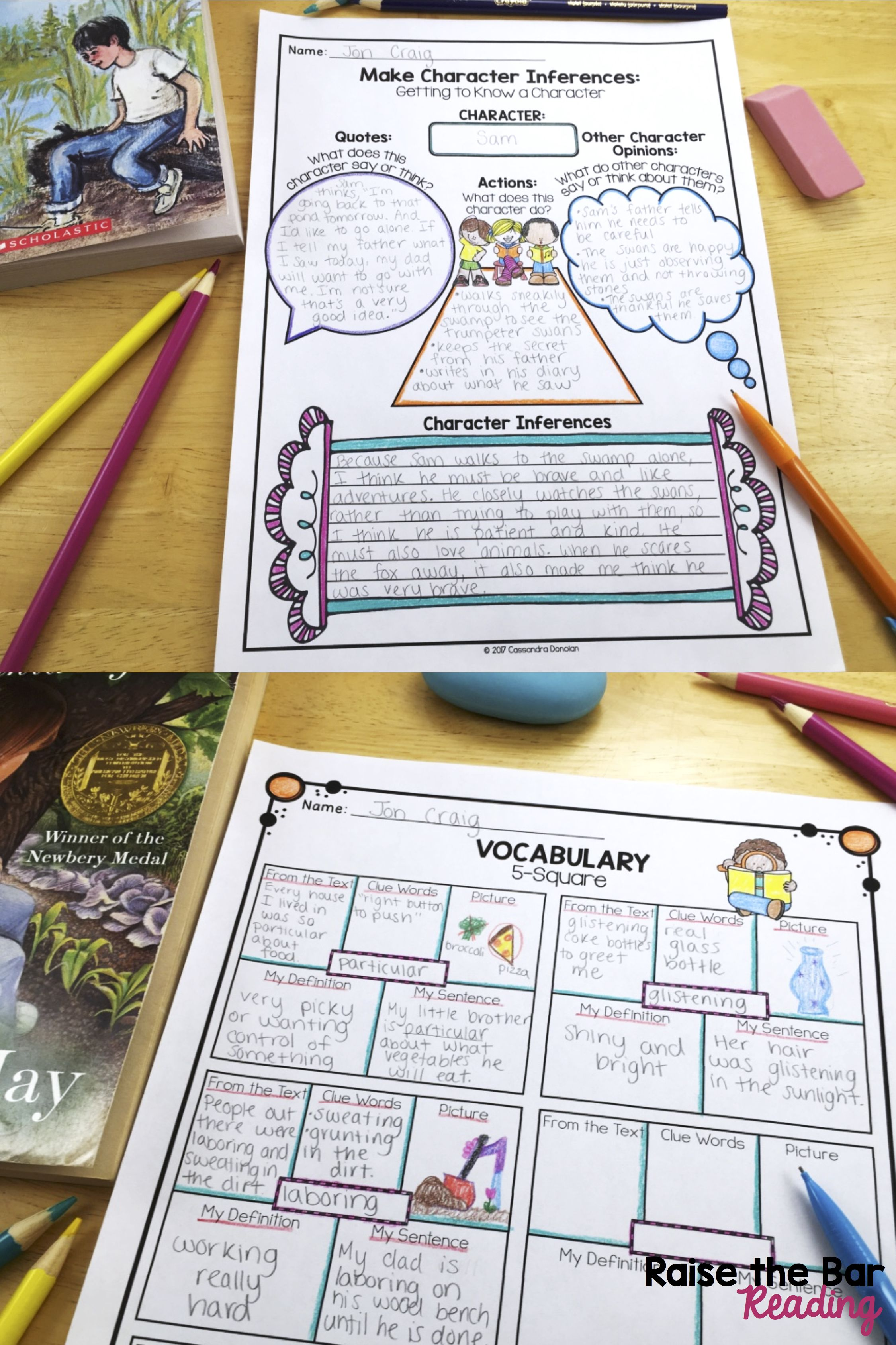 Reading Literature Or Fiction Graphic Organizers