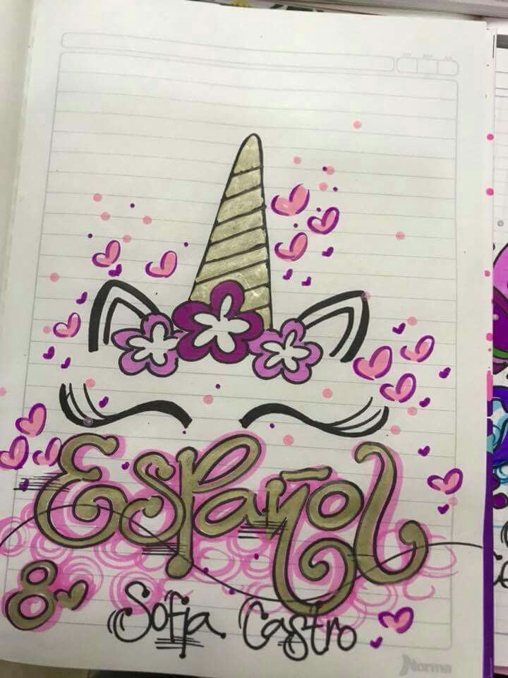Cuadernos | Dibujo | Pinterest | Marcar cuadernos, Carátulas para ...