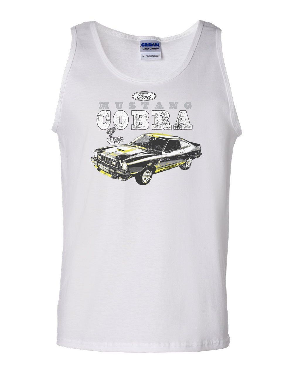 Ford Mustang Cobra Muscle Shirt American Classic Muscle Car Licensed Sleeveless