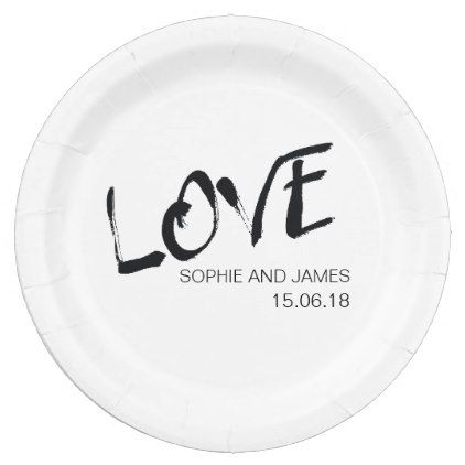 Love Personalised Paper Plate - home decor design art diy cyo custom  sc 1 st  Pinterest : personalised paper plates - pezcame.com