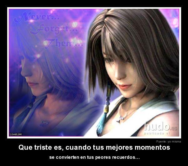 Tristeza Desecion Final Fantasy X Yuna Final Fantasy Y