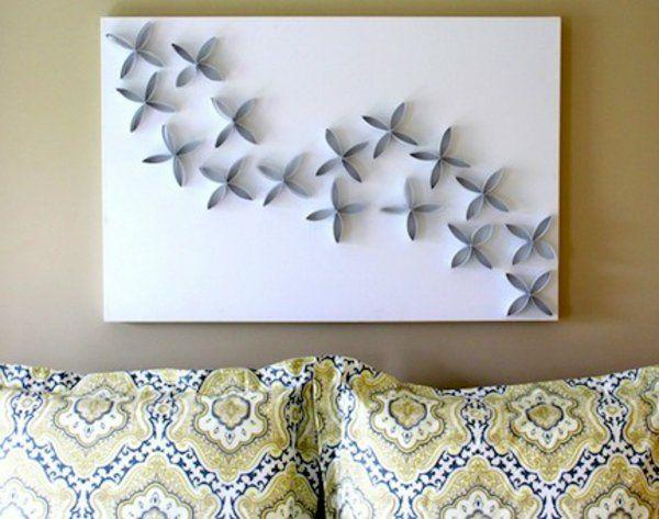 leinwandbilder selber gestalten diy muster 3d | basteln, Wohnzimmer dekoo