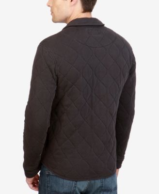 0e552250fe Lucky Brand Men s Quilted Western Shirt Jacket - Black 2XL ...