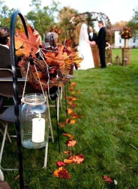 37 Stunning Fall Wedding Aisle Decor Ideas Weddingomania Wedding Arch Rustic Outdoor Fall Wedding Rustic Fall Wedding