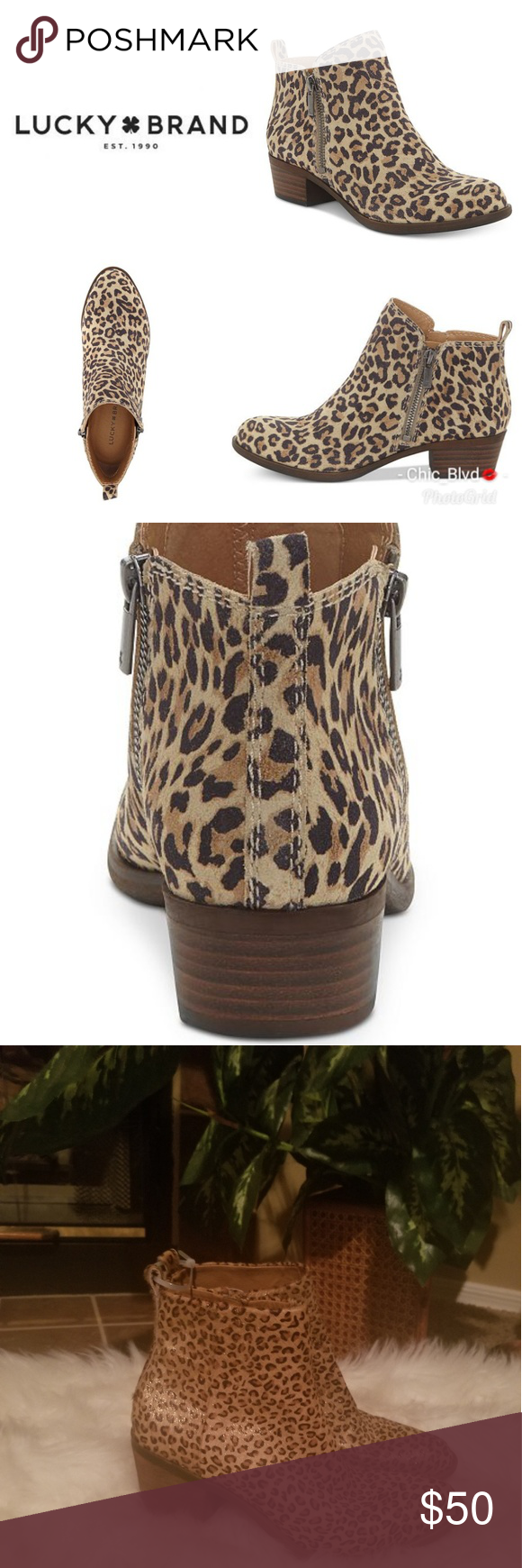 0999f09bcf40 Lucky Brand Basel Cheetah Print Booties Pair them with just about anything  and always