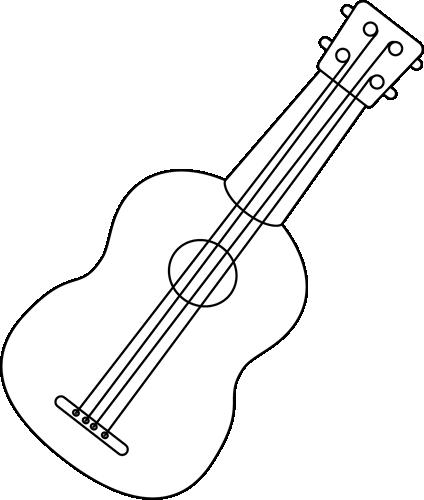 0922b4789 Black and White Ukulele Clip Art - Black and White Ukulele Image | I ...