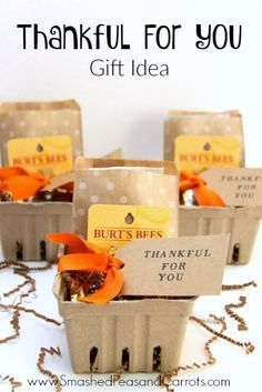 Fall Themed Thank You Gift Idea Gift Ideas And Packaging