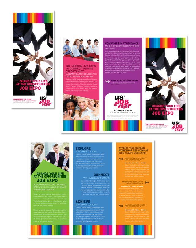Job Expo Career Fair Tri Fold Brochure Template Http Www Dlayouts Com Template 139 Job Expo Ca Trifold Brochure Template Brochure Template Trifold Brochure