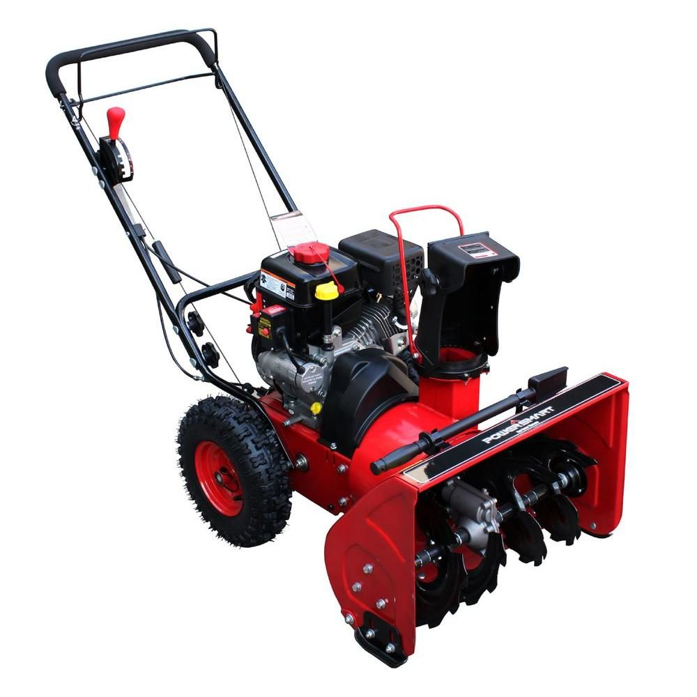 Powersmart 22 In 2 Stage Electric Start Gas Snow Blower Db765922 The Home Depot Gas Snow Blower Snow Blower Blowers