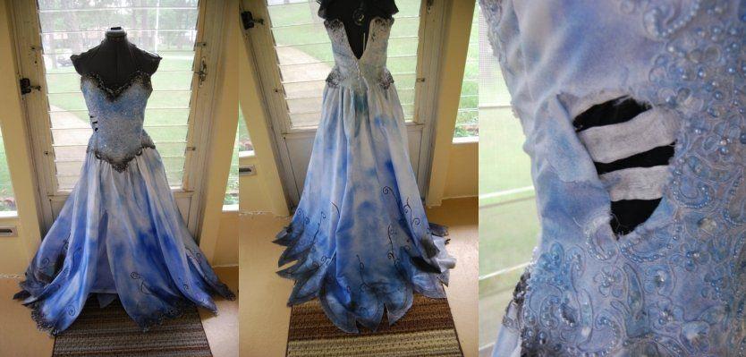 Corpse Bride Wedding Gown: Disney Princess Gown Dress Costume Corpse Bride CUSTOM