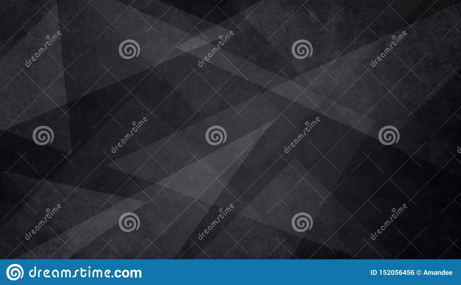 Abstract Black And White Background With Random Geometric Triangle