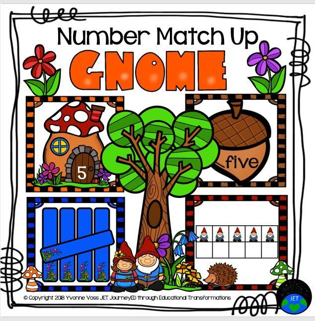 Gnome Number Match Up (With images) Number matching, Gnomes