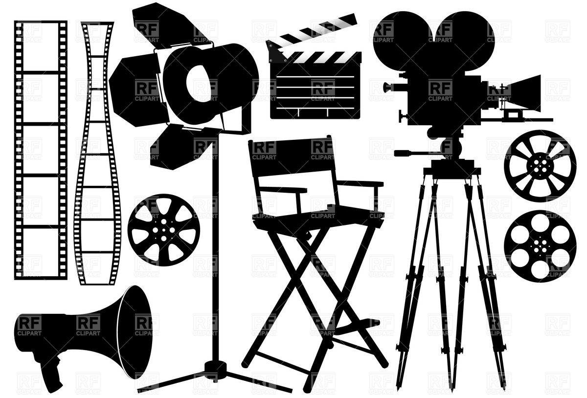Film Industry silhouette icons Silhouette, Film industry