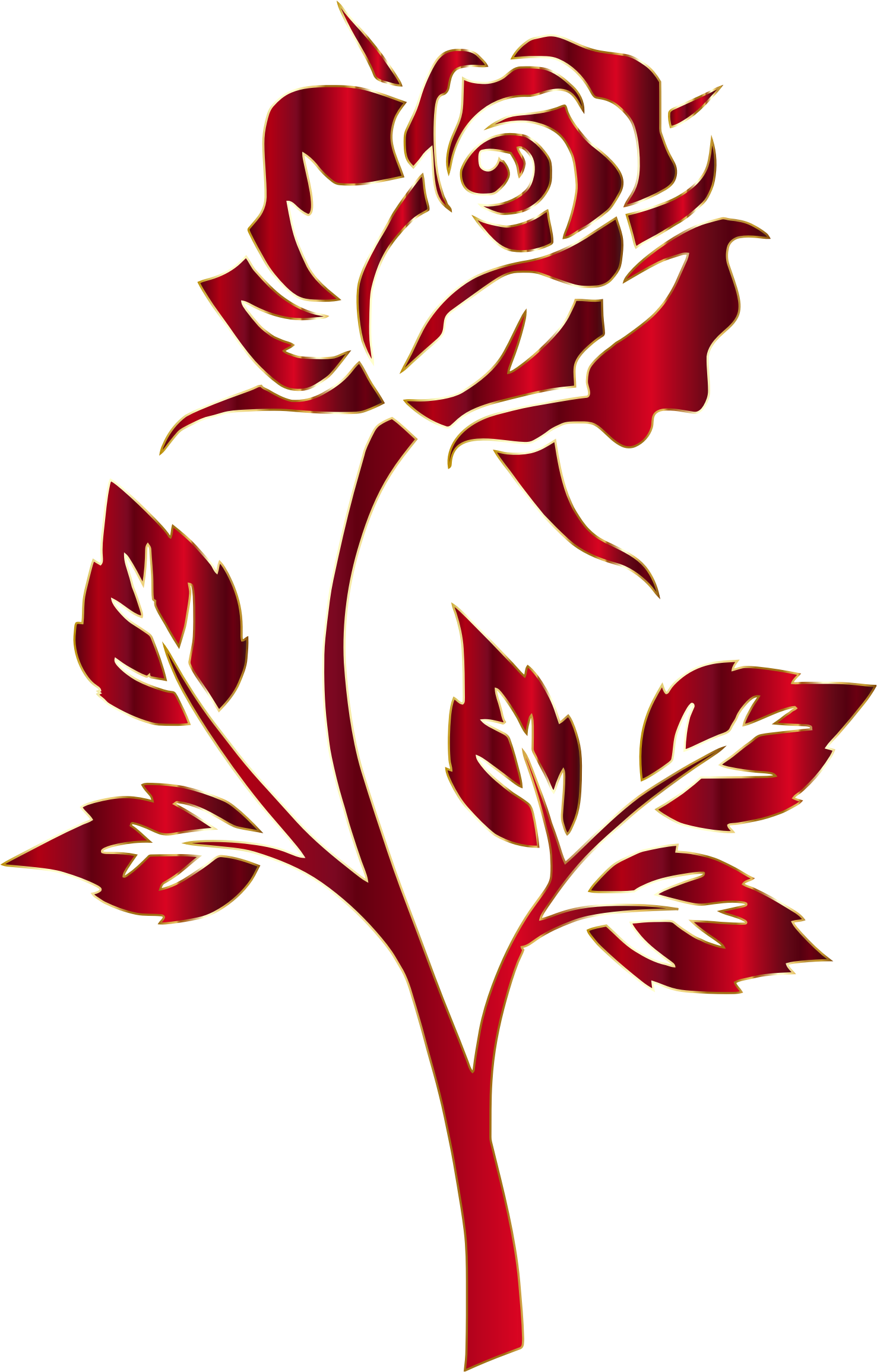 Crimson Rose Silhouette No Background by @GDJ, Crimson Rose ...
