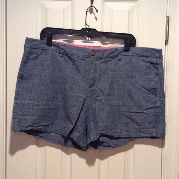 Merona Denim Linen Shorts Comfy Denim color linen shorts. See pics Merona Shorts