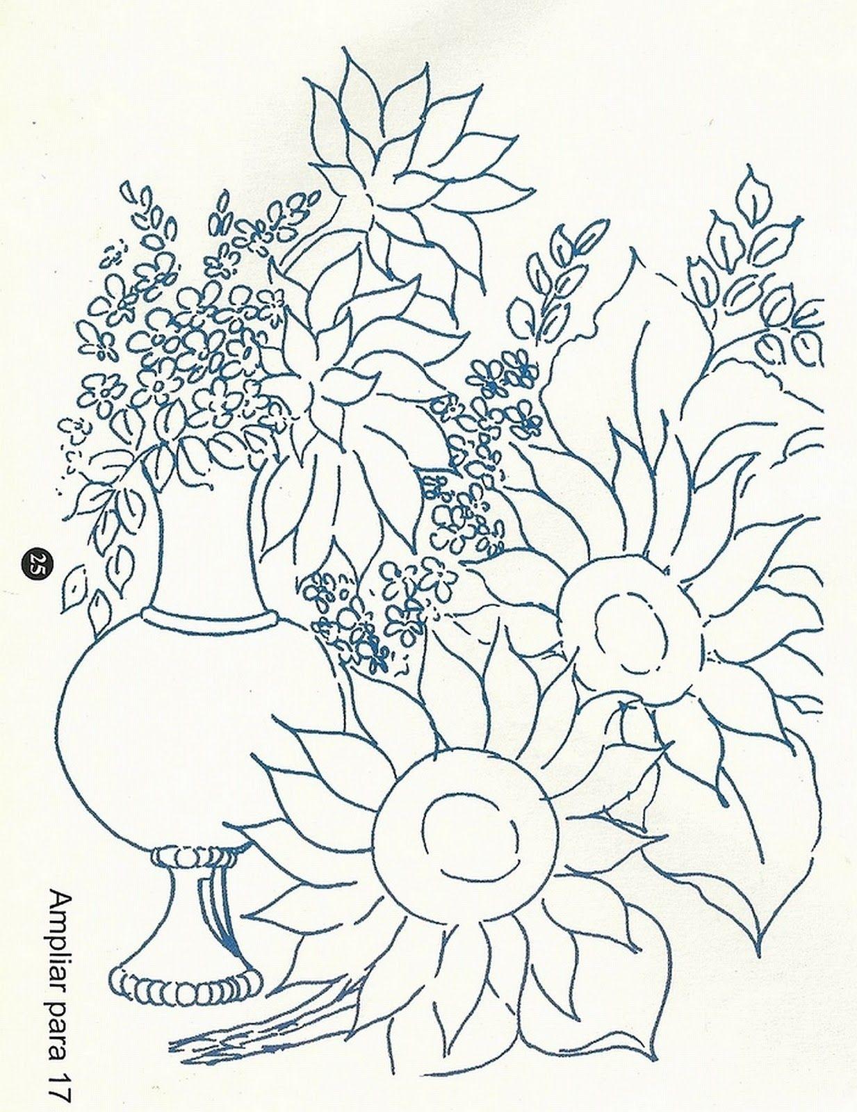 Pintura Em Tecido Girassois E Croche Com Grafico Com Imagens