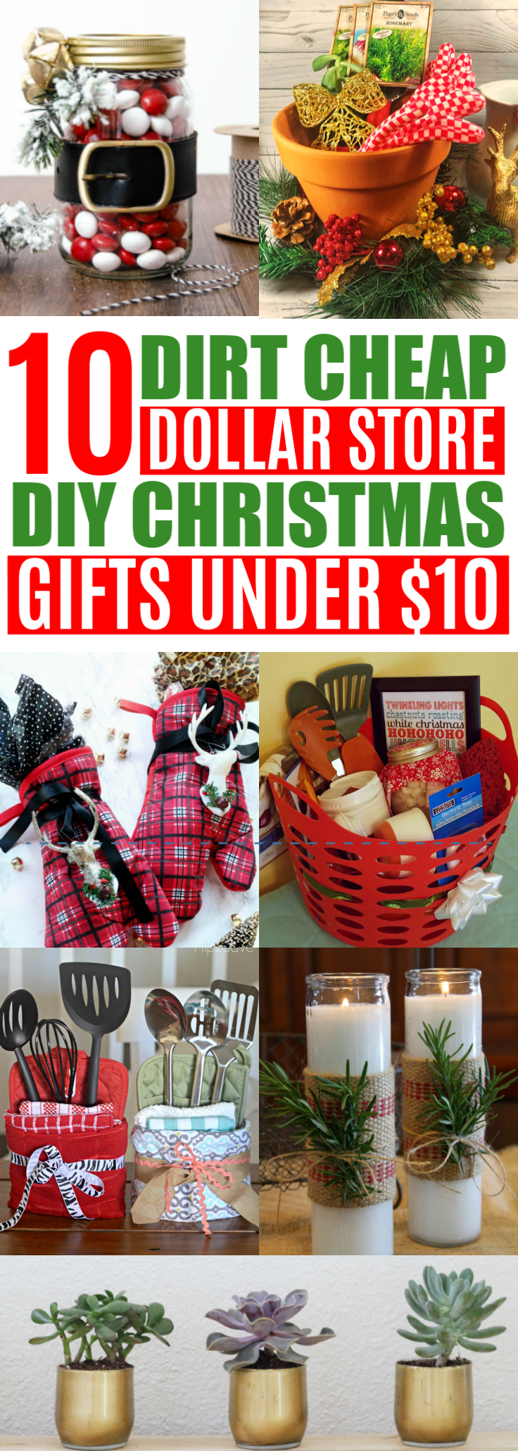 easy diy cheap christmas gifts from the dollar tree under 10 best inexpensive holiday gift