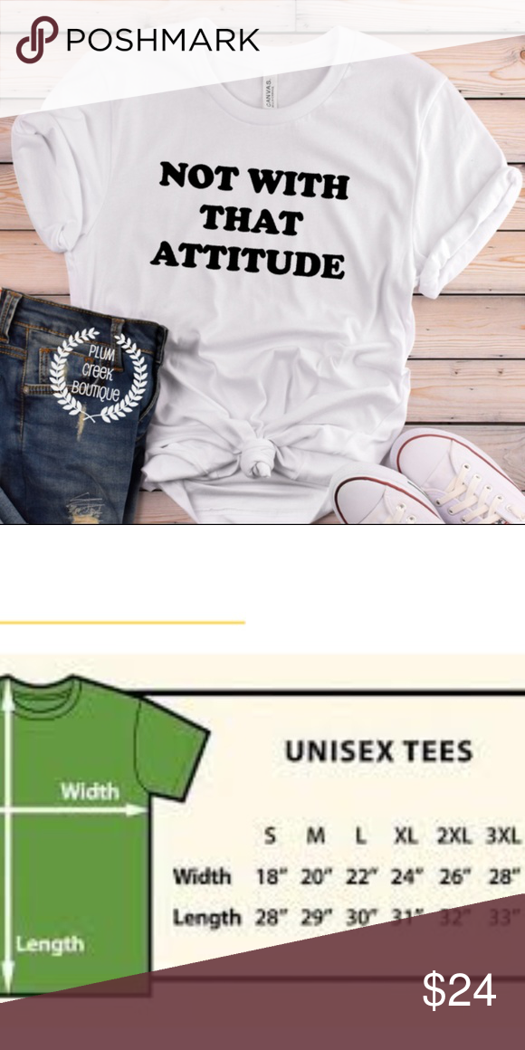 612959fd8 Not with That Attitude Graphic Tee inc Plus Sizes Not with That Attitude  Graphic Tee inc Plus Sizes Custom-made white graphic tshirt by Plum Creek  Boutique, ...