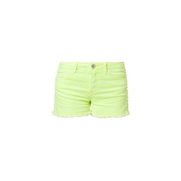 Short en jean ($79) ❤ liked on Polyvore