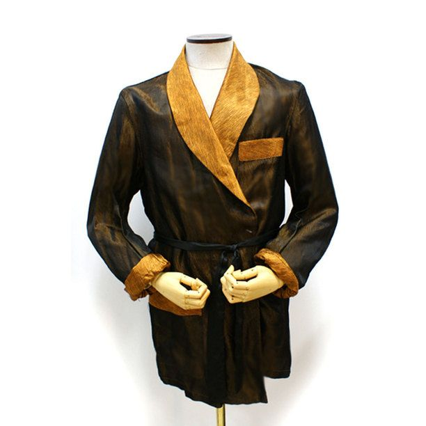 Smoking Jacket Brown And Gold Smoking Jacket Dapper And Brown