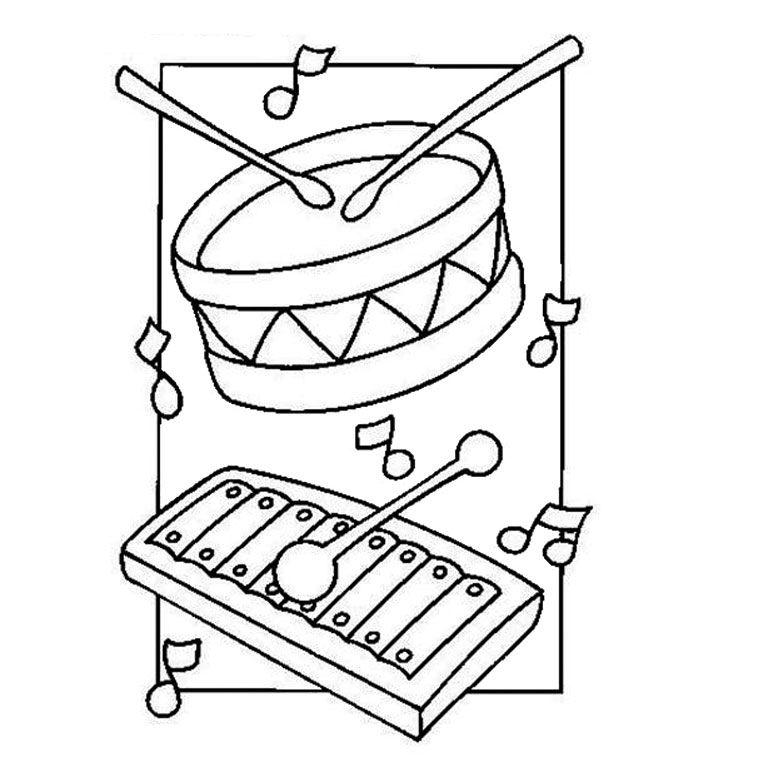 Coloriage Instruments De Musique Diverse Coloriage