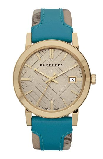 5744ff2c947 Burberry Timepieces 'Large' Stamped Leather Strap Watch | Nordstrom ...