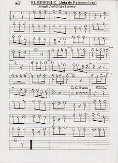 Partituras En Cifra Para Bandurria Y Laúd De José Ortega Laserna El Redoble Jota Extremeña Partituras Guitarra Música Musica Partituras