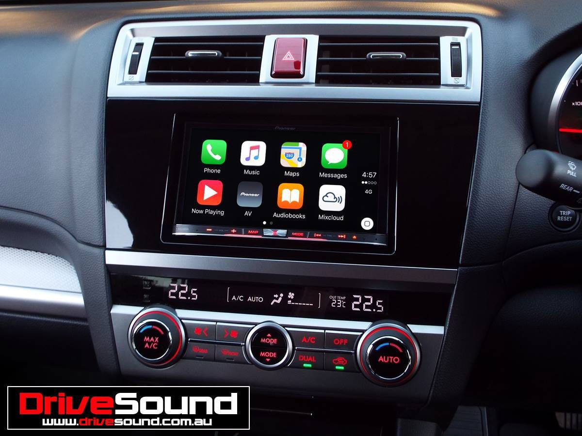 subaru liberty with apple carplay installed by drivesound. Black Bedroom Furniture Sets. Home Design Ideas