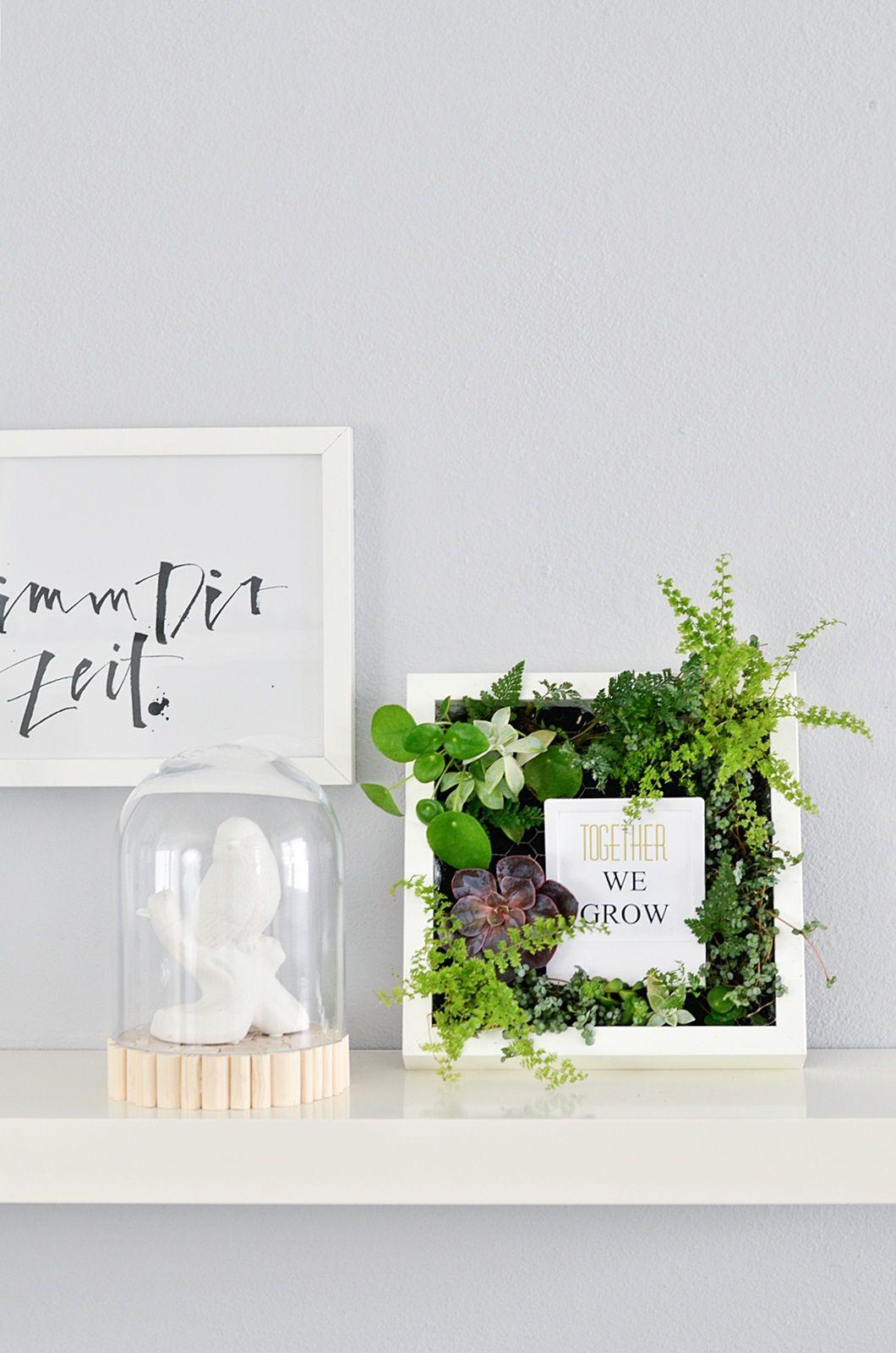 Ikea Hack Bepflanzte Bilderrahmen Selber Machen Diy Pinterest