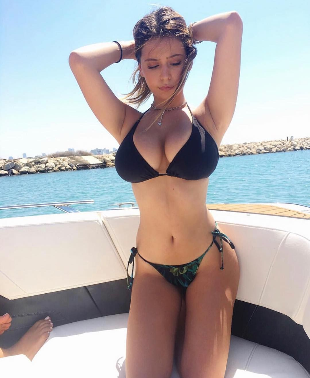 Busty Brunette In Mayokini