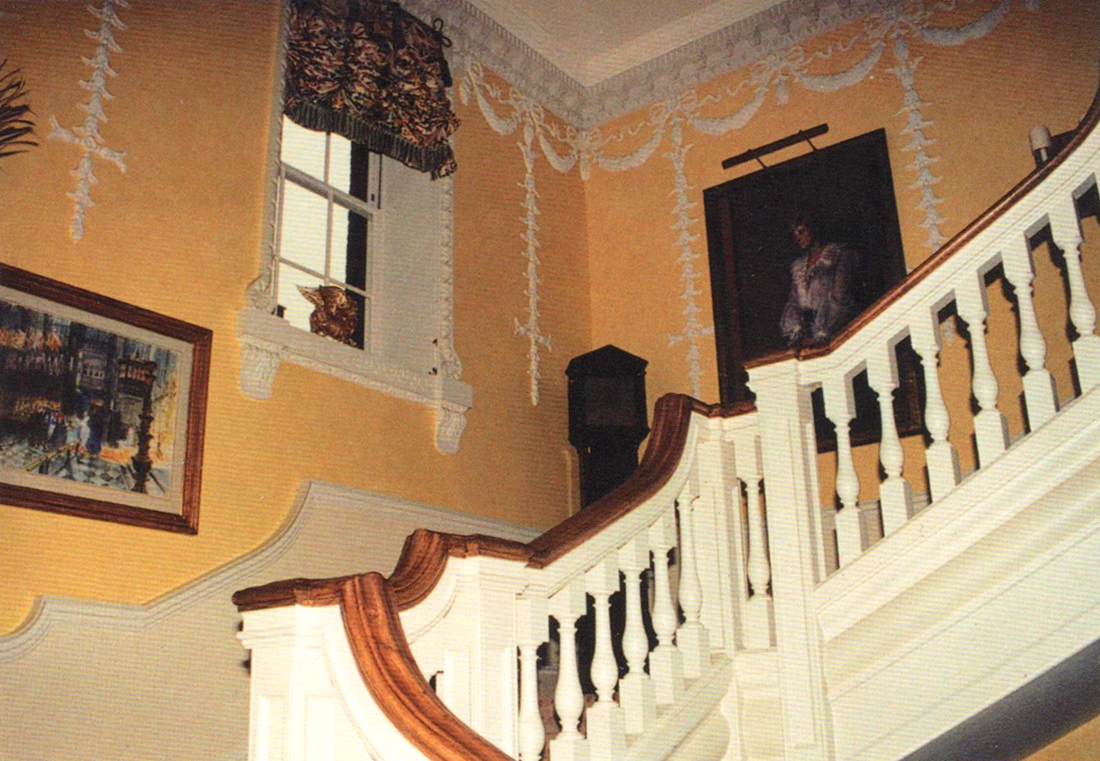 Staircase in Diana's KP apartment