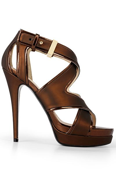 Zodiac USA Tamara Peanut Butter Leather High Heeled Platform Slingback Sandals