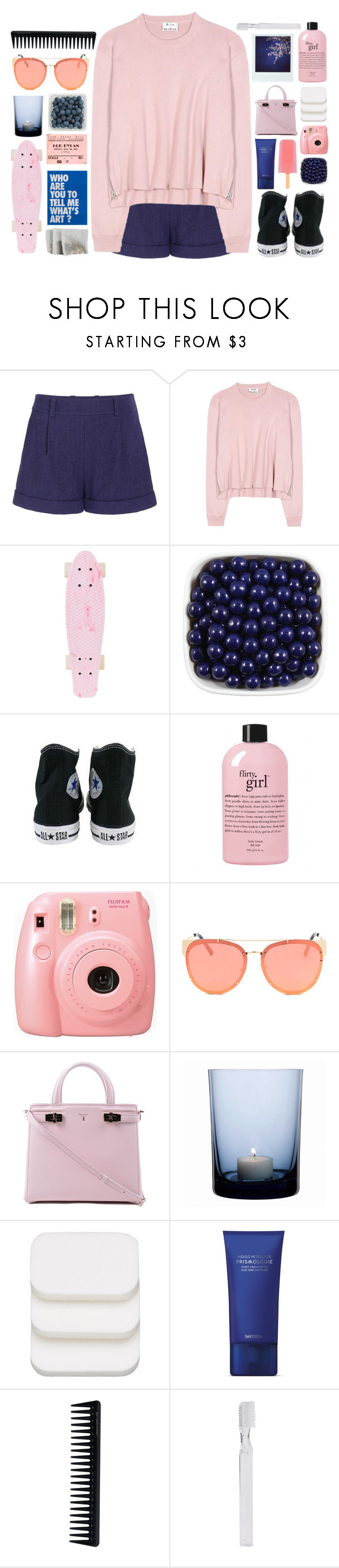 """""""Just gonna keep on daydreaming"""" by cjcstyle ❤ liked on Polyvore featuring Diane Von Furstenberg, Acne Studios, Converse, philosophy, Fujifilm, Serapian, By Nord, COVERGIRL, GHD and Polaroid"""