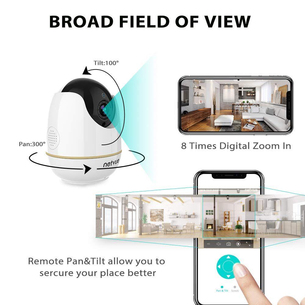Pet Camera, Home Camera 2 Way Audio and Night Vision