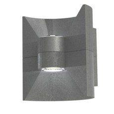 Demi Applique Exterieure Redondo Led Integree 2x2 5 W 380 Lm Anthracite Eglo Eclairage Terrasse Led Applique Exterieur Led